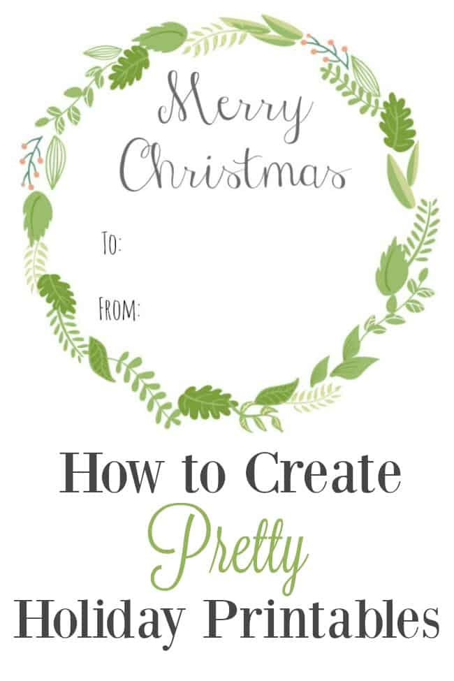 Create your own holiday printables with free graphics