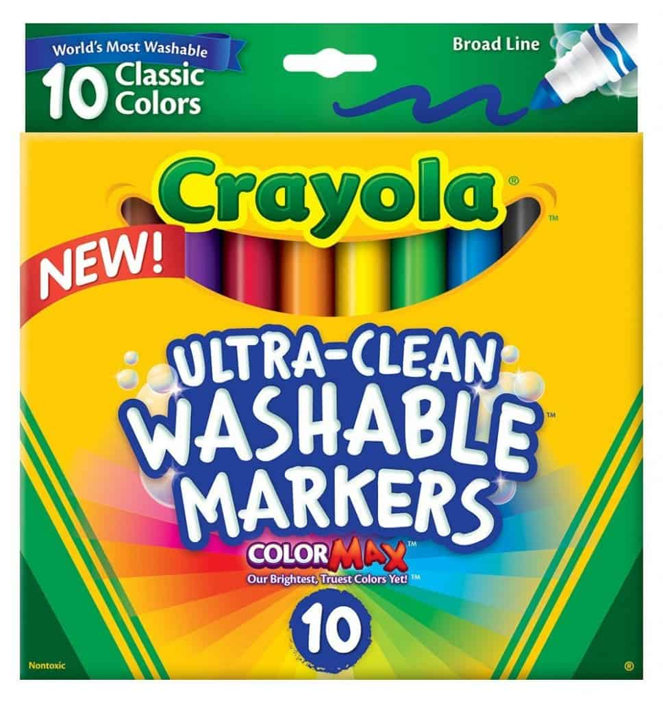 Crayola washable markers, a great gift for crafty kids