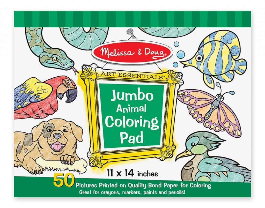 Melissa & Doug Jumbo Coloring Pad - Animals, a great gift for crafty kids