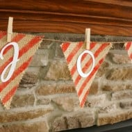 Christmas Painted Burlap Banner