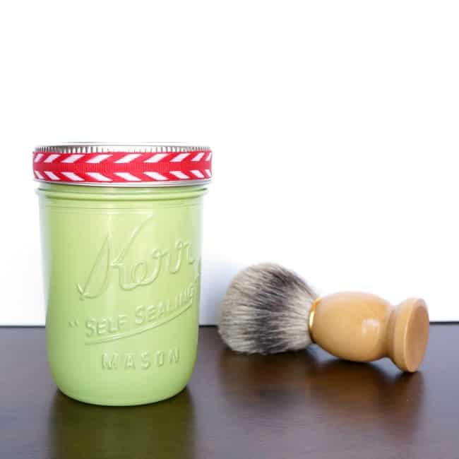 The perfect shave mason jar gift with homemade shaving cream