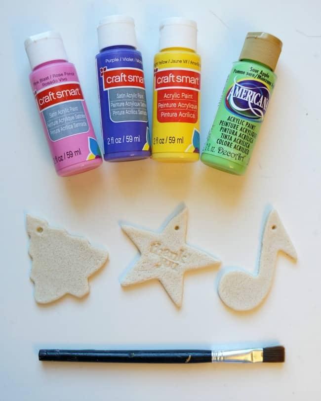 paint salt dough ornaments #PackInMoreMemories ad