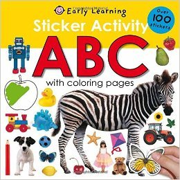 Sticker Activity ABC book. A great gift for crafty kids