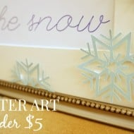Create This Simple and Stunning Winter Art for Under $5