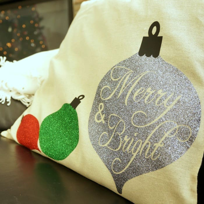 Silhouette Merry and Bright pillow