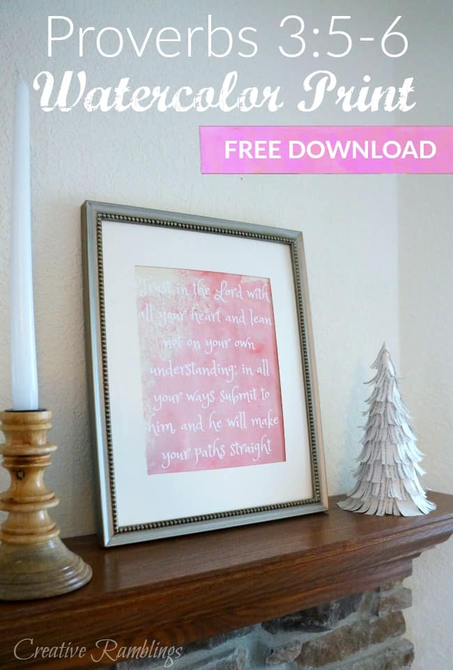Watercolor Proverbs Print