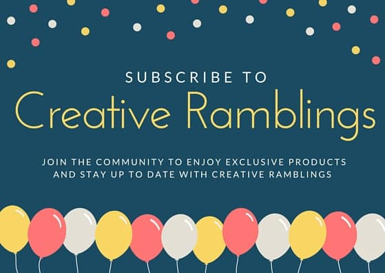 Subscribe to Creative Ramblings
