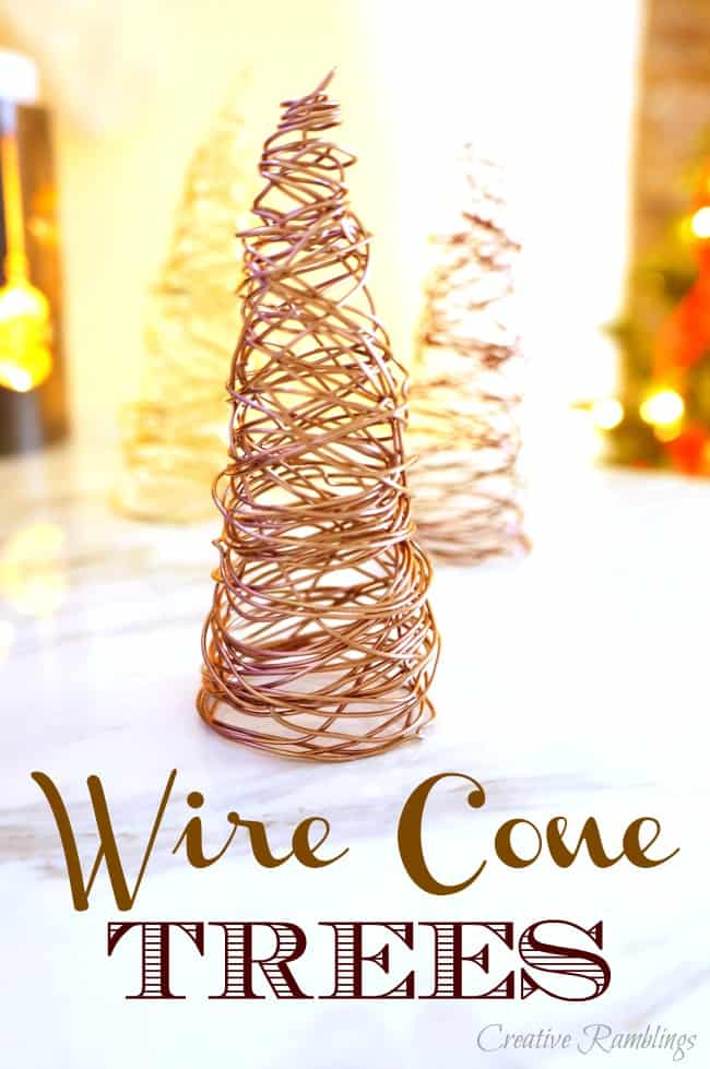 Easy to create wire cone trees for Christmas and winter deor