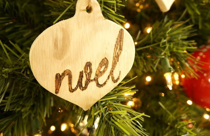 Easy wood burned ornaments