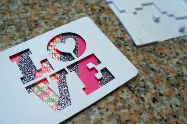 3D Valentine tags with washi tape