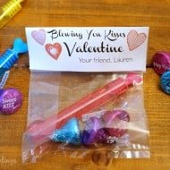 Blowing You Kisses Bubble Valentine
