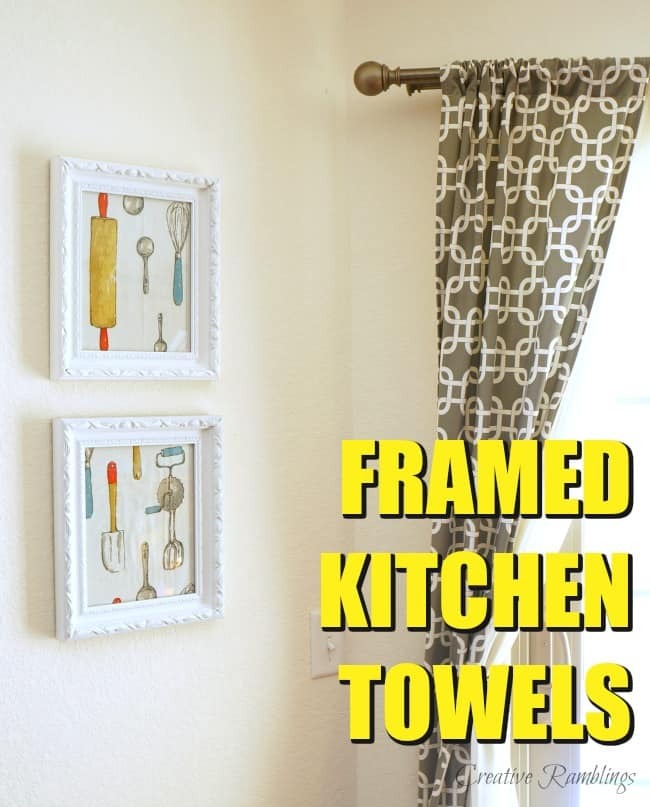 Framed Dish Towel Kitchen Art Creative Ramblings