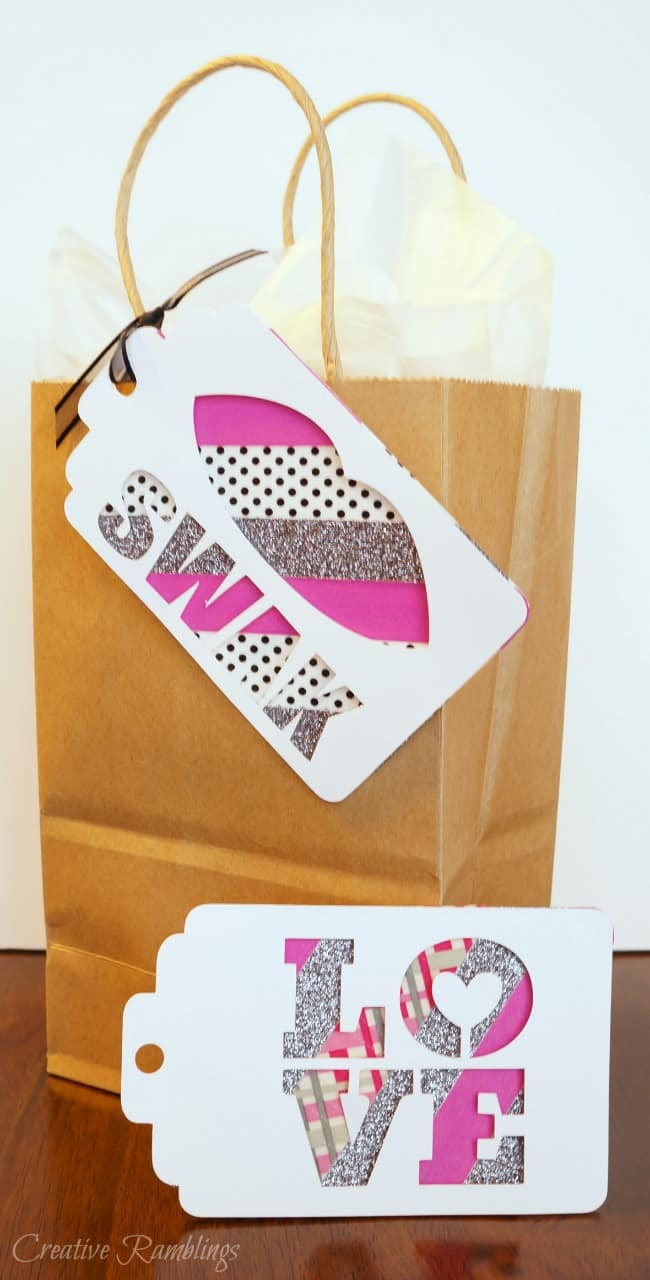 Make these easy 3D Valentine tags using washi tape
