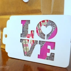 Easy 3D Valentine Tags