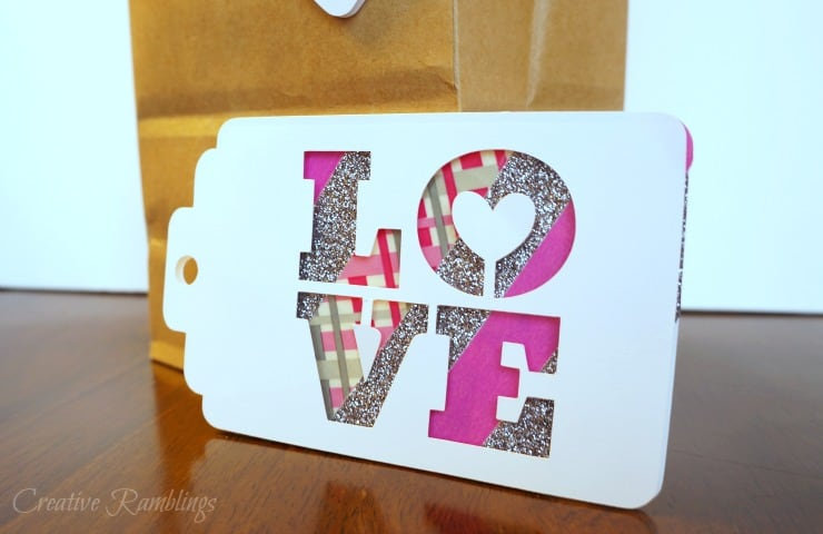 Make these easy 3D Valentine tags using washi tape to dress up your gifts this Valentine's Day