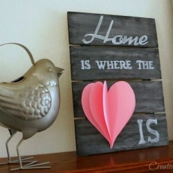 Home Is Where The Heart Is Valentine Chalk Sign