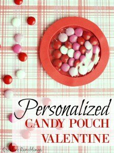 Create and easy personalized candy pouch Valentine