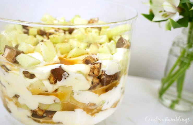 Sweet super bowl spread and a Snickers caramel apple trifle AD #SweetenTheSpread
