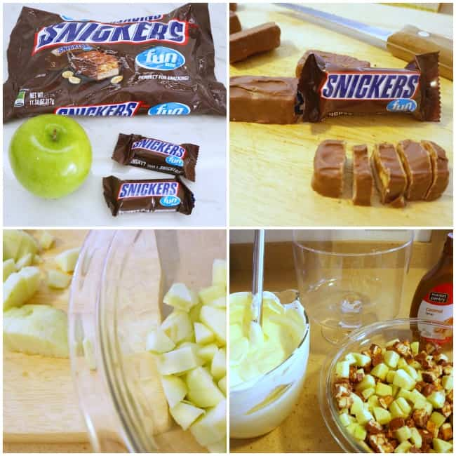 Create a Snickers caramel apple trifle #SweetenTheSpread AD