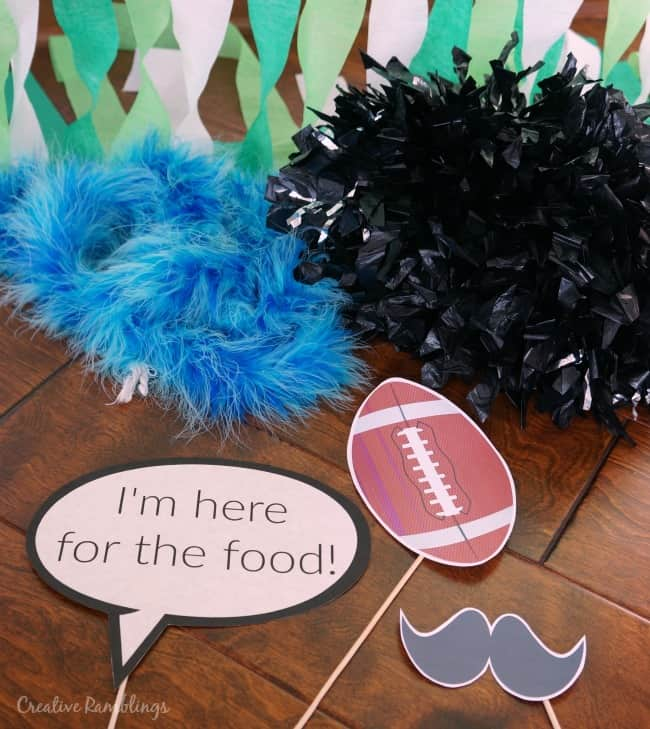 Football photo booth props #SweetenTheSpread AD