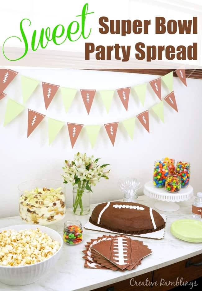 Throw a sweet Super Bowl party with this delicious dessert spread. It's easy too! AD #SweetenTheSpread