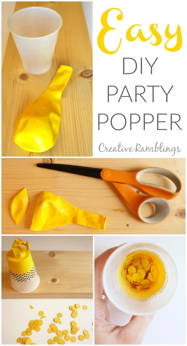 Make these easy kid friendly party poppers