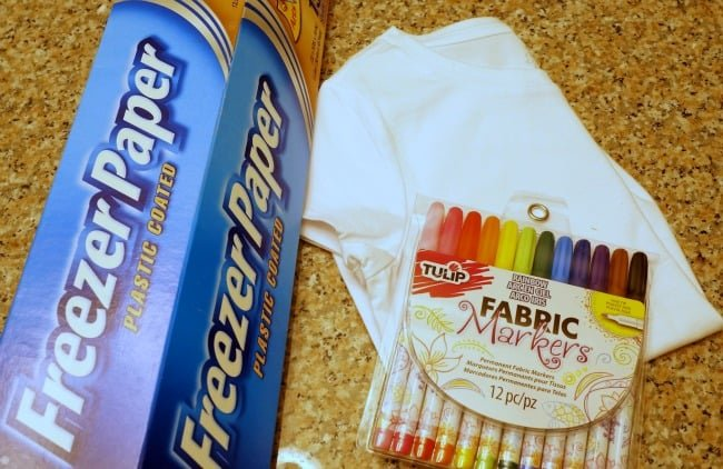 Easy Shirt with Freezer Paper Stencil and Fabric Markers