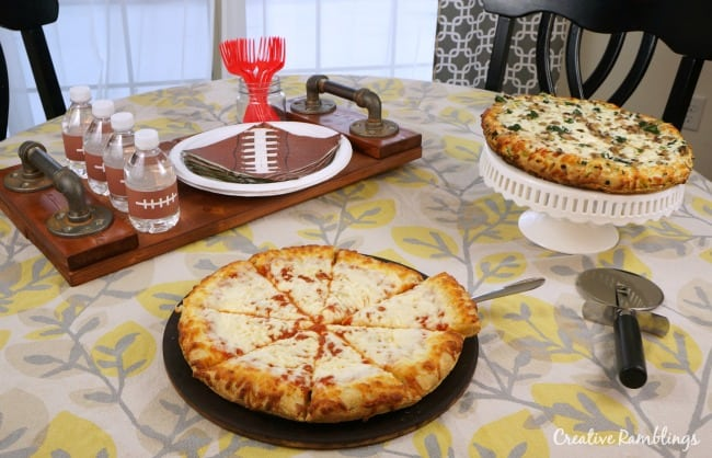 Make the right call with a simple game day pizza dinner