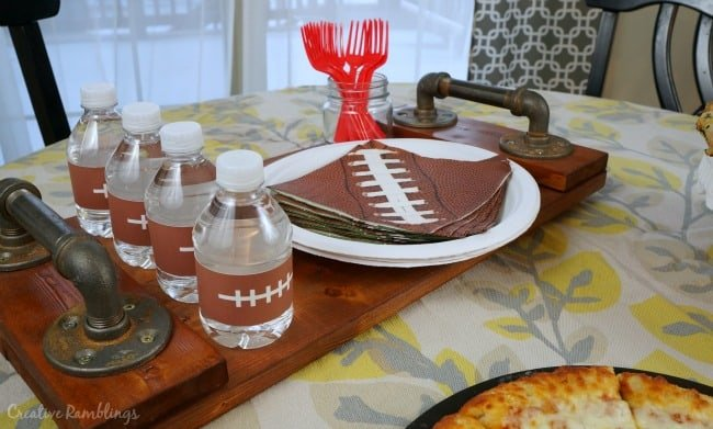 Simple game day buffet