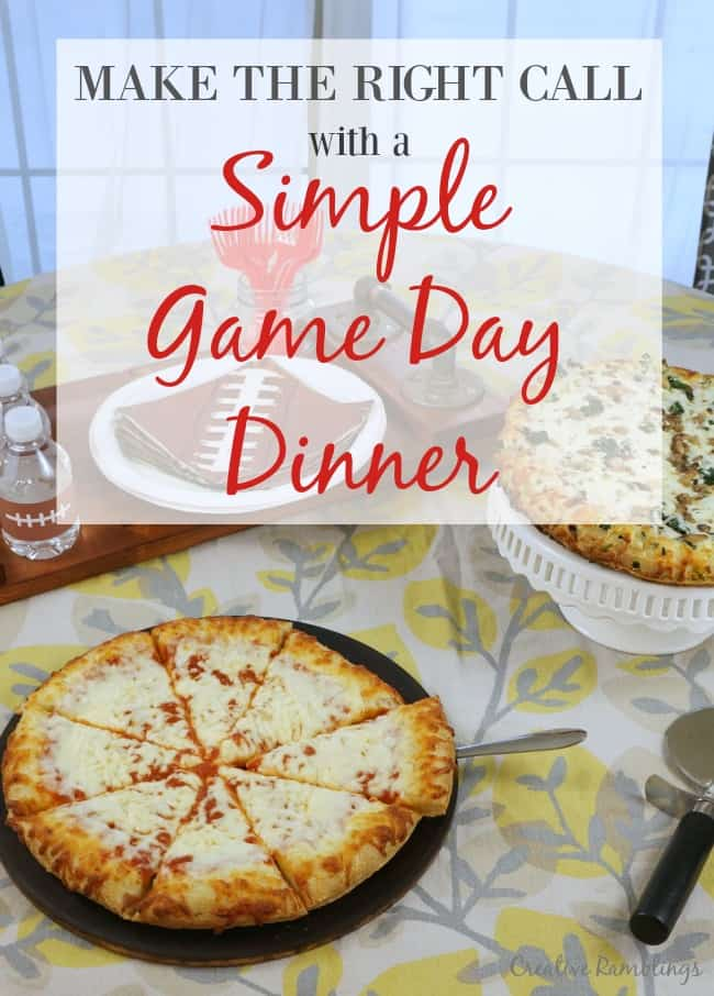 Make the right call with a simple BIg Game pizza dinner
