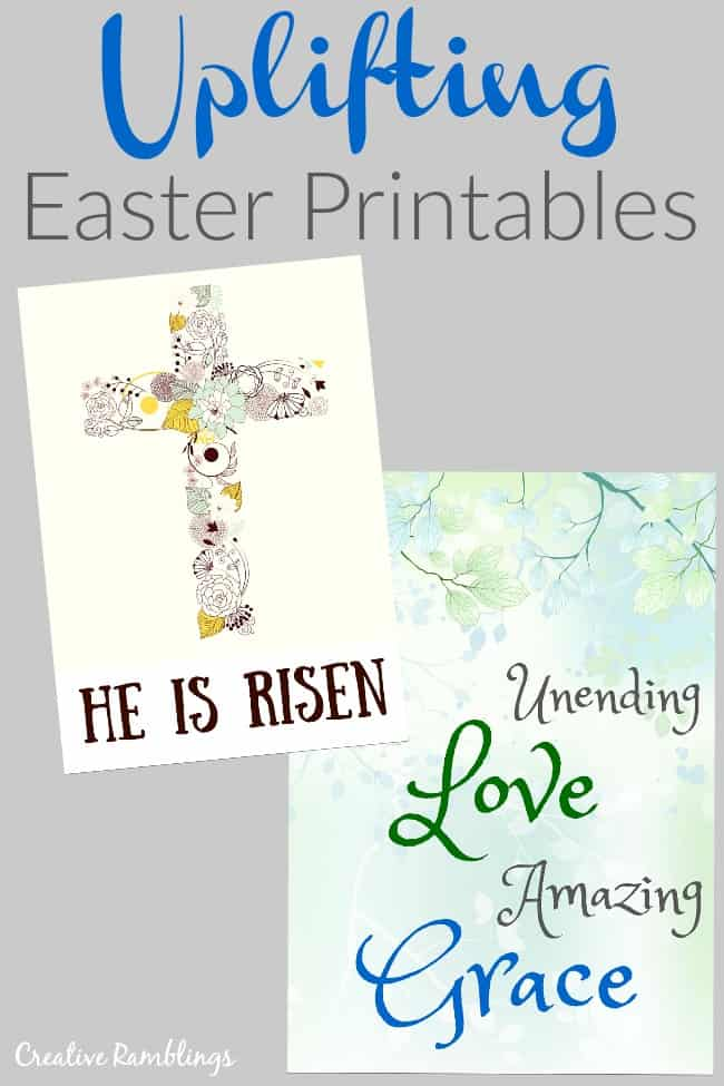 Uplifting printables for Easter and Spring