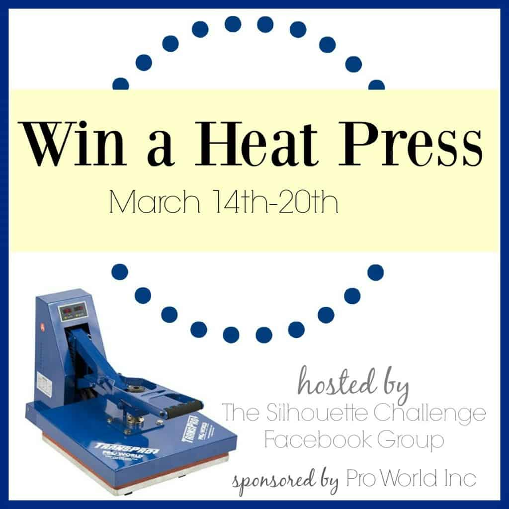 Heat press giveaway