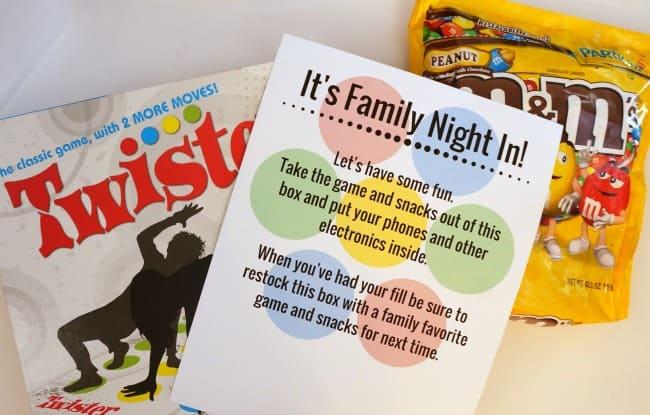 Family Night In Game Box