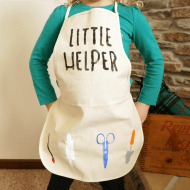 Little Helper Stenciled Kids Apron