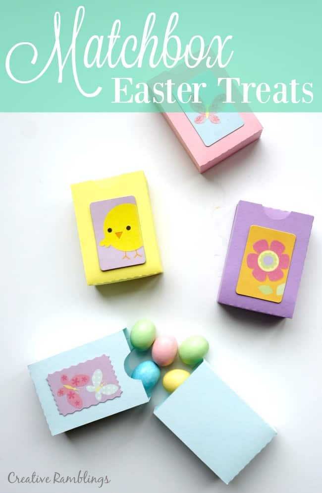 Paper Matchbox using a Silhouette. Filled with chocolate eggs for an Easter treat