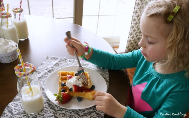 Welcome Spring with a simple and delicious waffle brunch