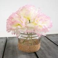 Glitter Mason Jar Vase for Spring