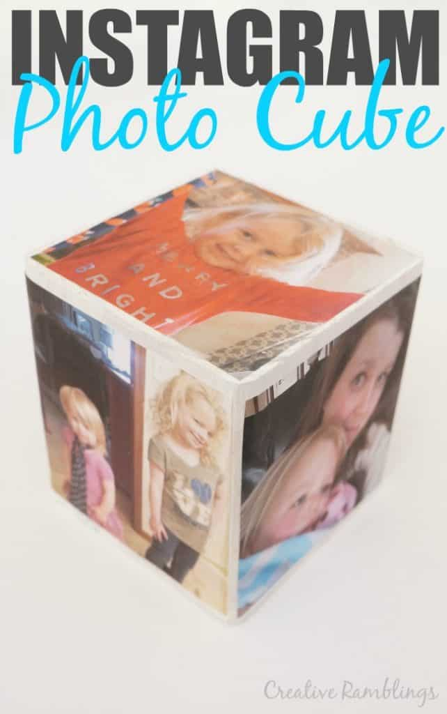 A simple DIY Mother's Day photo gift, this Instagram photo cube is so easy to make.