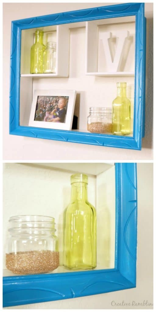 A colorful and modern updated wall curio