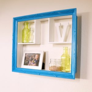 Modern updated wall curio