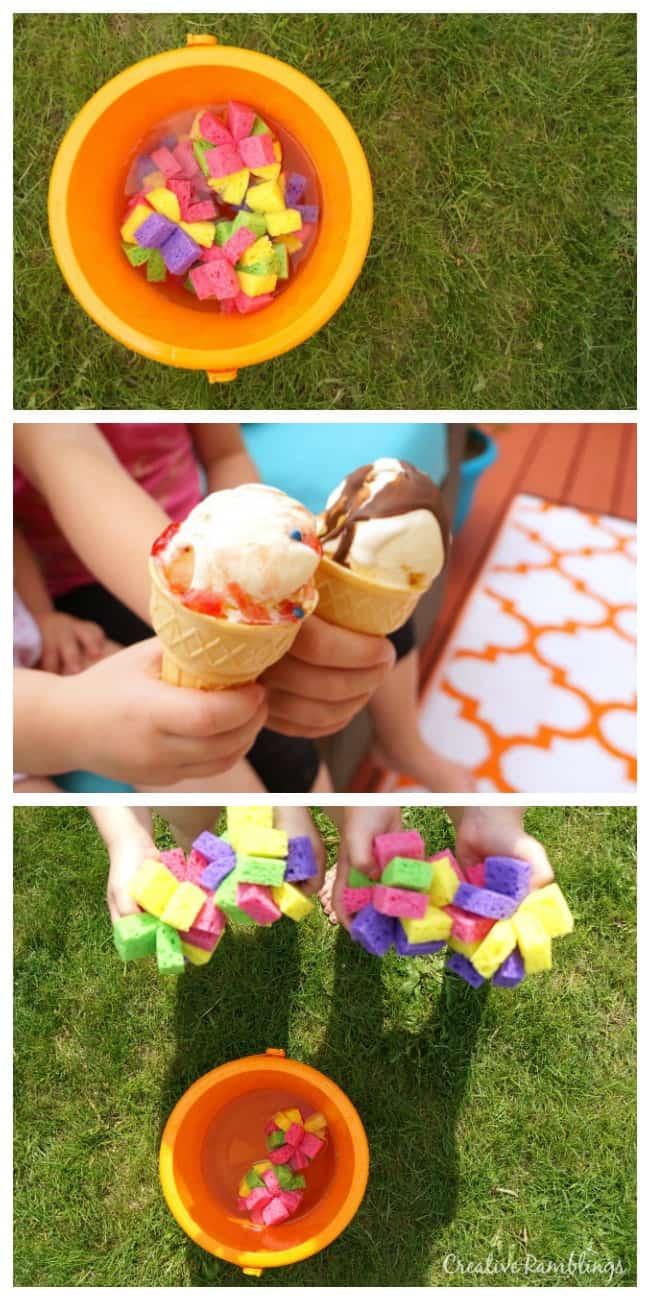 DIY sponge water bombs and simple summer treats #TopYourSummer #SoHoppinGood AD