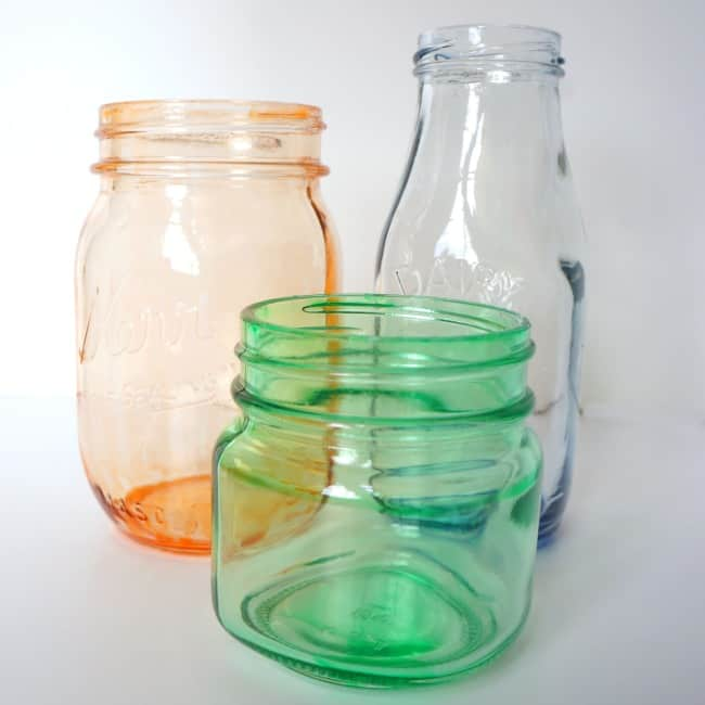 How to tint glass mason jars