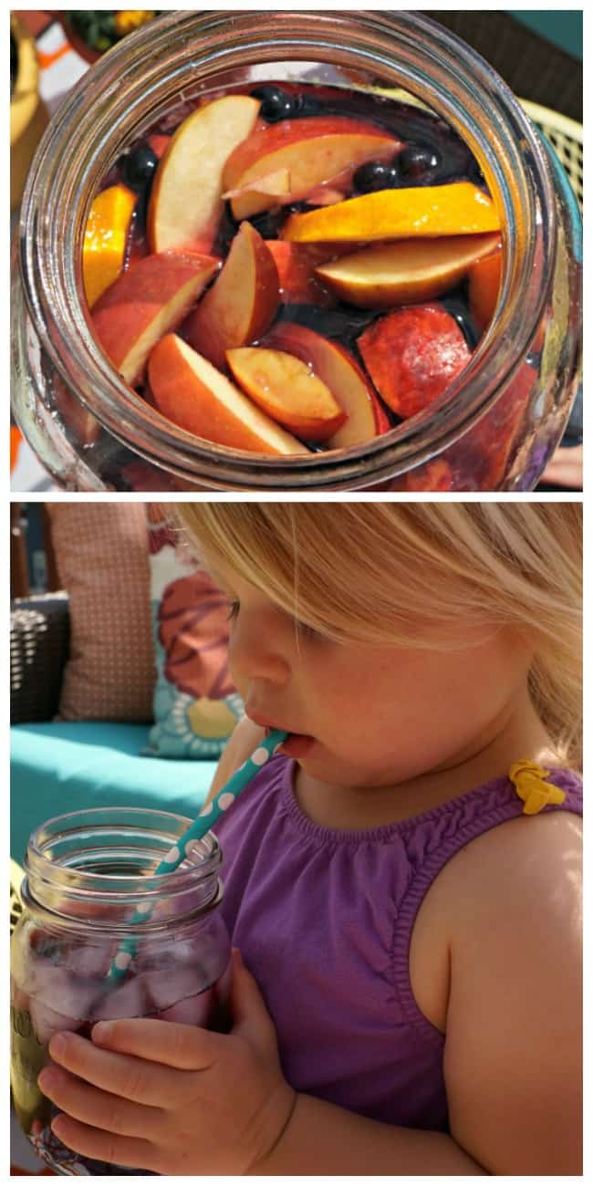 This is an easy recipe for kid friendly virgin sangria. A delicious non alcoholic recipe.