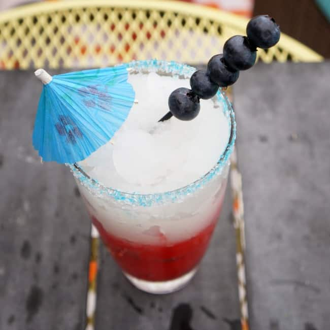red white and blue patriotic frozen drink