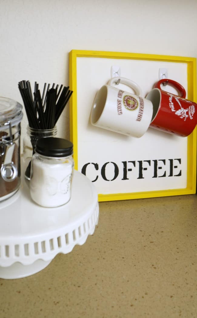 A simple DIY coffee station to help simplify your morning #IDSimplyPure AD