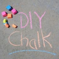 DIY Sidewalk Chalk and Summer Activities