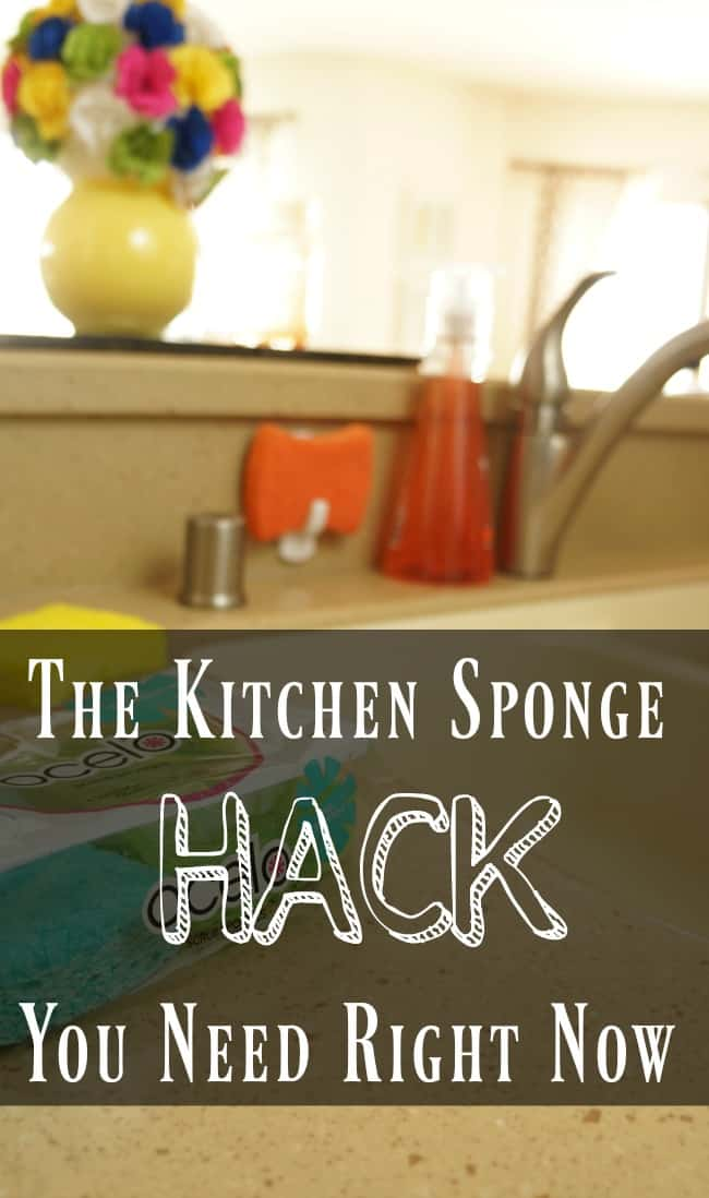 The simple kitchen sponge hack you need to do today #GiveItASparkle #ad