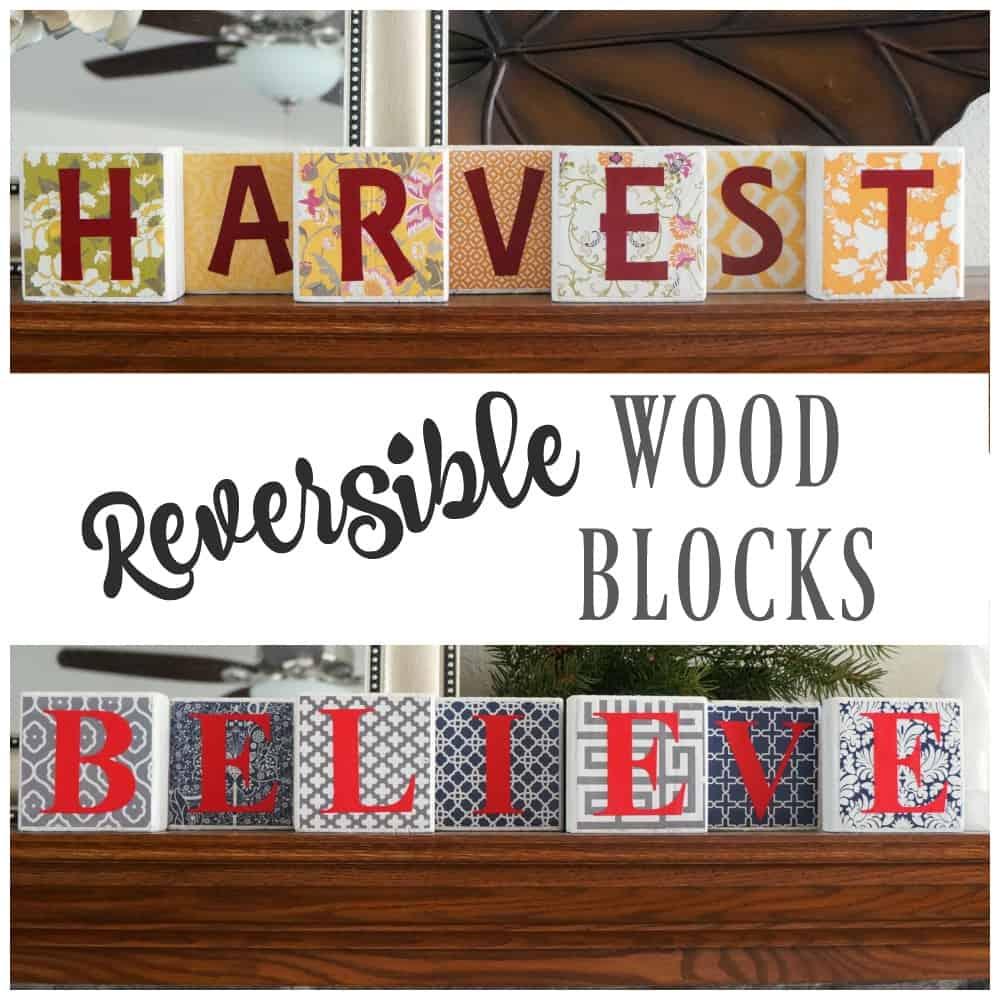 Reversible wood blocks