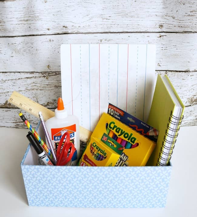 Back to school hacks - portable homework station