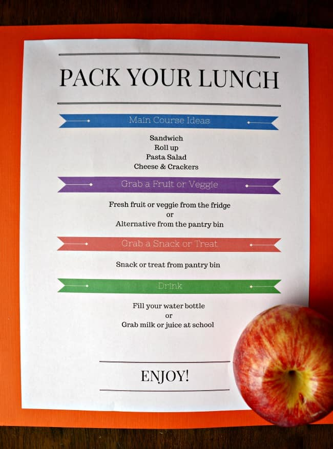 Back to school hack - lunch station